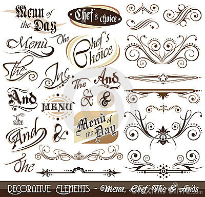 Vintage Decorative Calligraphic Elements
