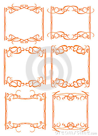 Vintage decorative design border