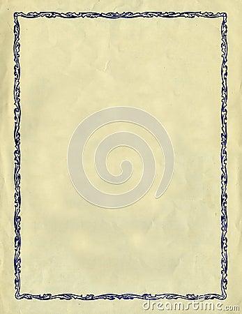 Vintage Decorative Frame Against A Rough Paper Tex