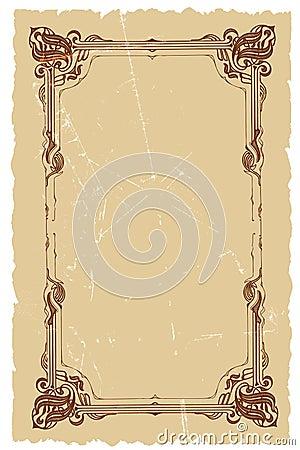 Free Vintage Decorative Frame Vector Background Design Royalty Free Stock Images - 4625909