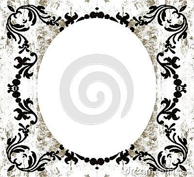 Vintage decorative oval grunge