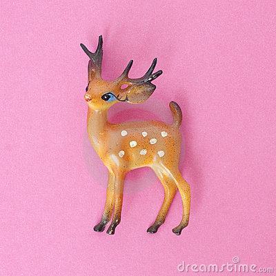 Vintage Deer Holiday Toy
