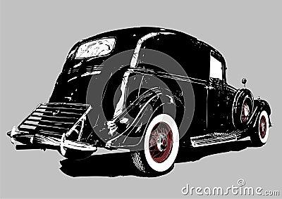 Vintage delivery car