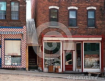 Vintage Depression Era Street Scene