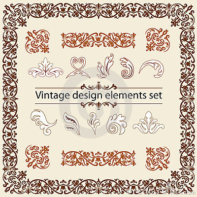 Vintage Design Elements Set Royalty Free Stock Photo - Image: 20901825