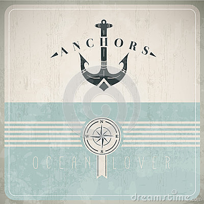 Free Vintage Design Template With Anchor Royalty Free Stock Photography - 30090167