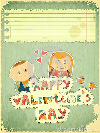 Vintage Design Valentines Day Card Stock Image - Image: 27910771