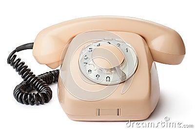 Vintage desktop rotary telephone