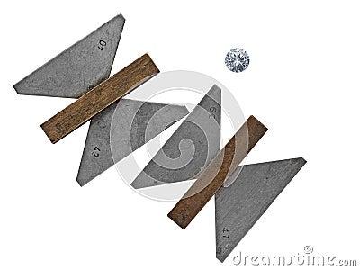 Vintage diamond angle gauges
