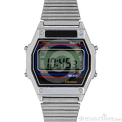 Free Vintage Digital Watch Stock Image - 24288211