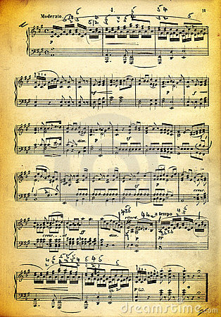Vintage dirty music sheet and paper texture