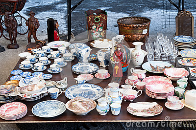 Flea market dishes