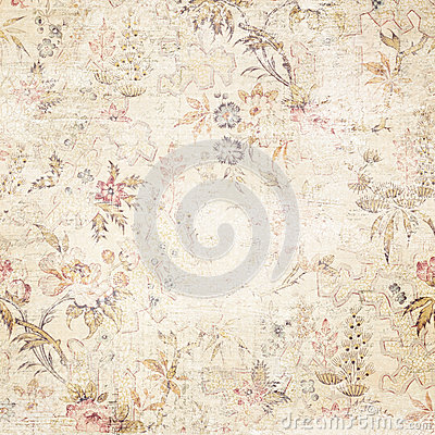 Vintage Distressed Floral Background