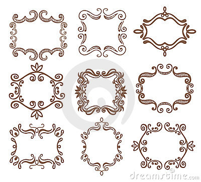 Free Vintage Doodle Frame. Stock Photography - 19060732