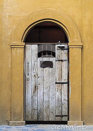 Vintage door facade