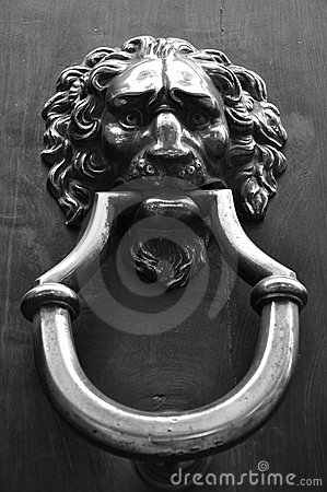 Vintage door knob in Italy