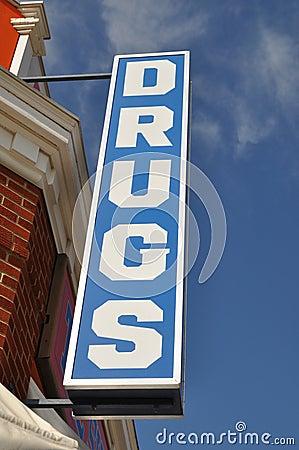 Vintage Drugs Store Sign