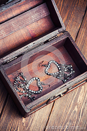 Free Vintage Earrings Royalty Free Stock Image - 42078246