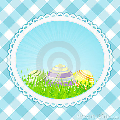 Vintage easter background oval
