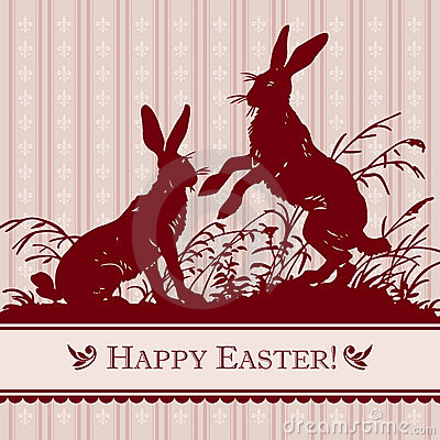 Vintage easter background (vector)