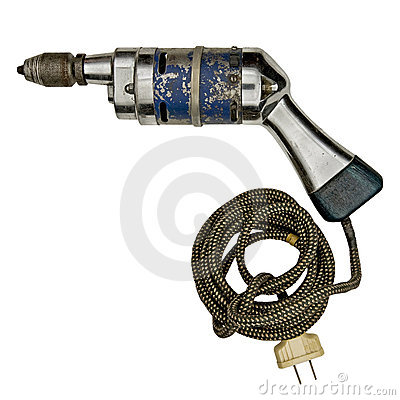 Free Vintage Electric Drill Royalty Free Stock Image - 7616996