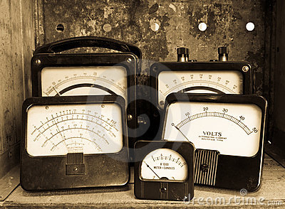 Vintage Electric Meters