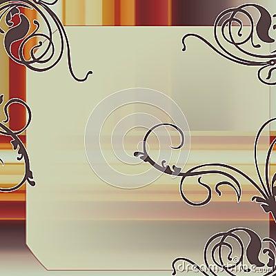 Vintage elegant frame
