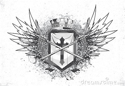 Vintage emblem with crest