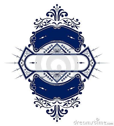 Vintage emblem ribbon
