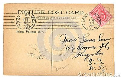Vintage English postcard (1908)