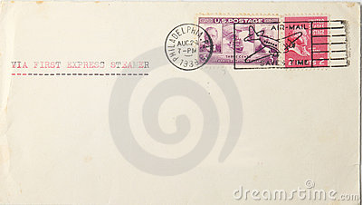 Vintage envelope from usa to europe in 1939
