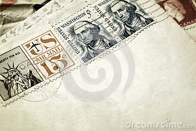 Vintage Letters and Stamps