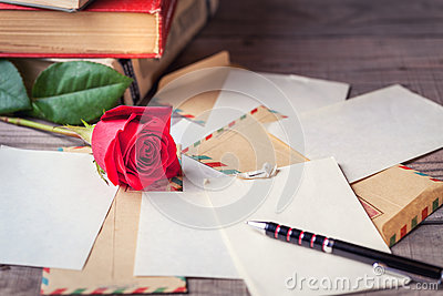 Writing Love Letter On Romantic Table Photo Image 44016187 – Writing Romantic Letters