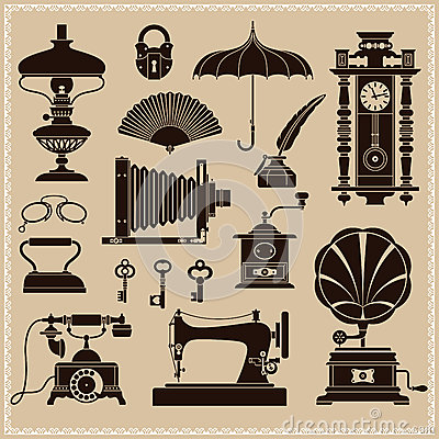 Free Vintage Ephemera And Objects Of Old Era Royalty Free Stock Images - 38783759