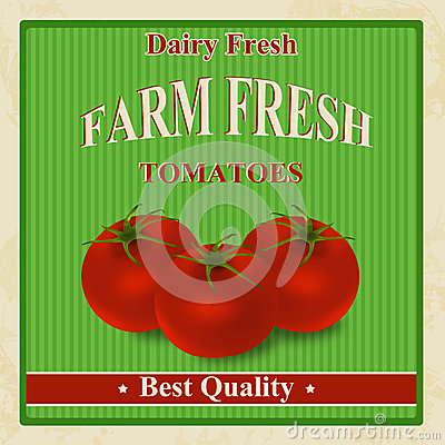 Vintage farm fresh tomatoes poster