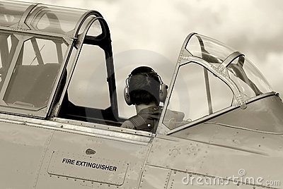 Vintage Fighter Training Aircraft