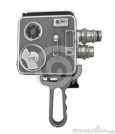 Free Vintage Film Movie Camera Isolated Royalty Free Stock Photos - 48947798