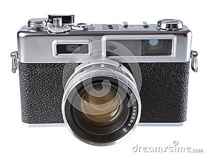 Vintage film rangefinder camera