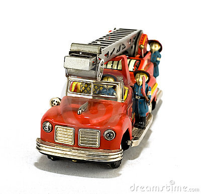 Free Vintage Fire Truck Toy Stock Images - 2533224
