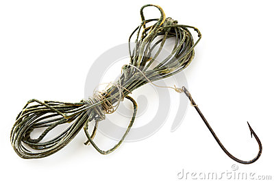 Vintage Fishing Line and Rusted Hook