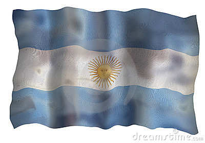 Vintage Flag of Argentine