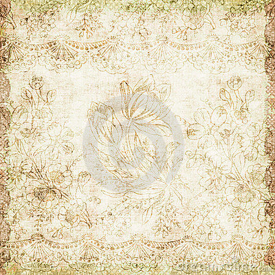 Free Vintage Floral Antique Background Theme Royalty Free Stock Photo - 7289155