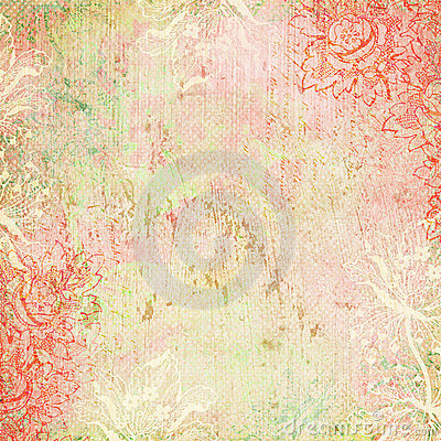 Free Vintage Floral Antique Background Theme Stock Photography - 7291232