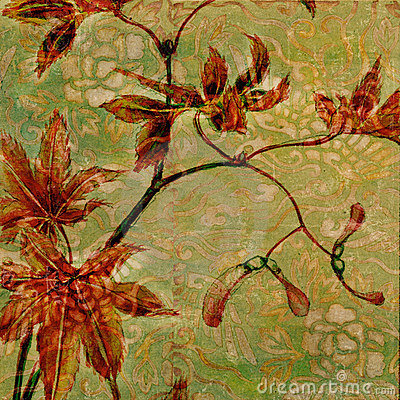 Free Vintage Floral Antique Background Theme Stock Images - 7293374