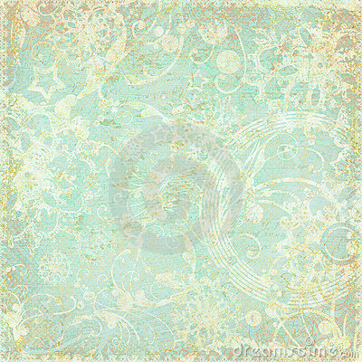Vintage floral antique background theme