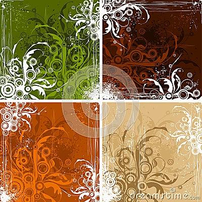 Free Vintage Floral Backgrounds Stock Images - 4055214