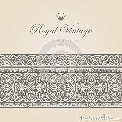 Free Vintage Floral Border Royalty Free Stock Image - 28662956