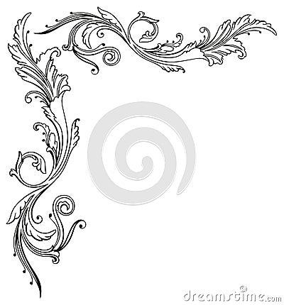 Free Vintage, Floral, Border Stock Image - 34777921
