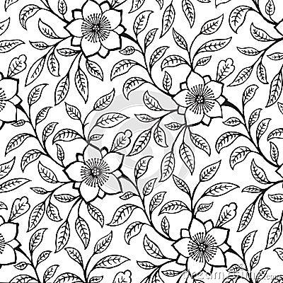 Vintage floral damask scrapbook background