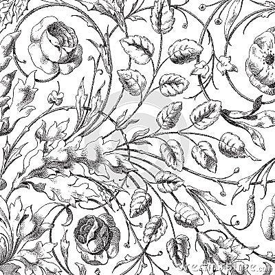 Free Vintage Floral Damask Scrapbook Background Royalty Free Stock Images - 10947599